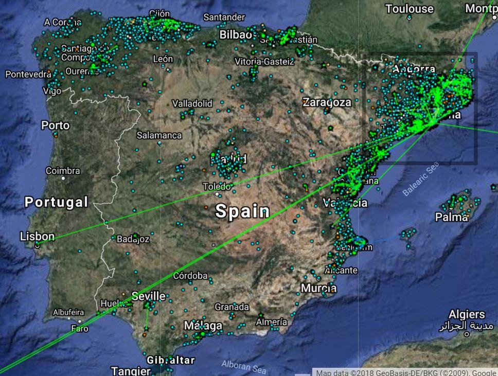 guifinet map Spain