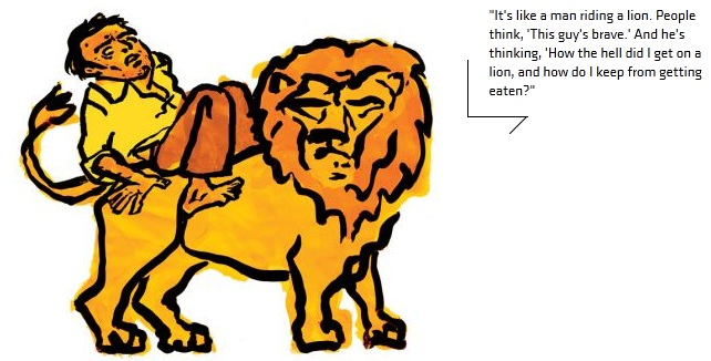 man_on_lion